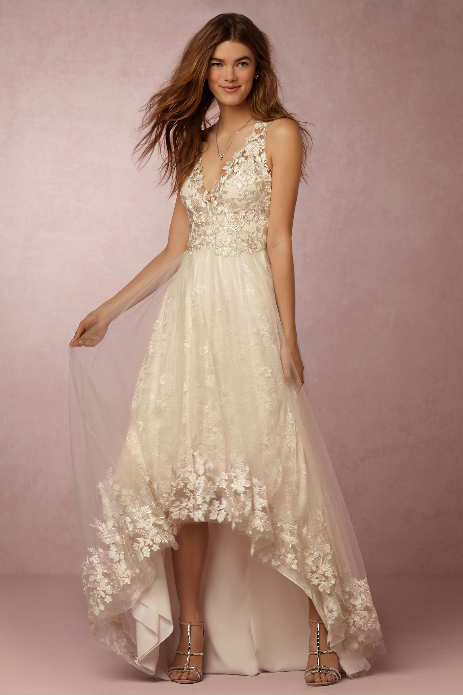 opal gown wedding gown Marchesa Notte Ivory Opal Gown BHLDN