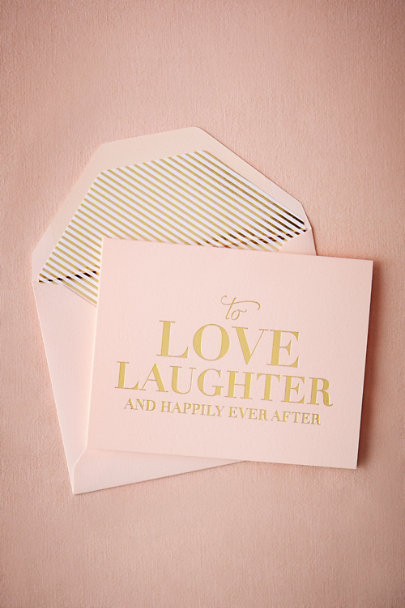 Sugar Paper Pink To Love & Laughter Card | BHLDN