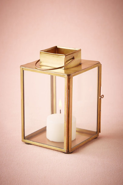Antique Brass Brass-Paned Lantern | BHLDN