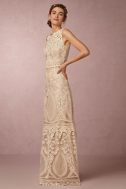 Sheath column wedding dresses bhldn for Anthropologie beholden wedding dress