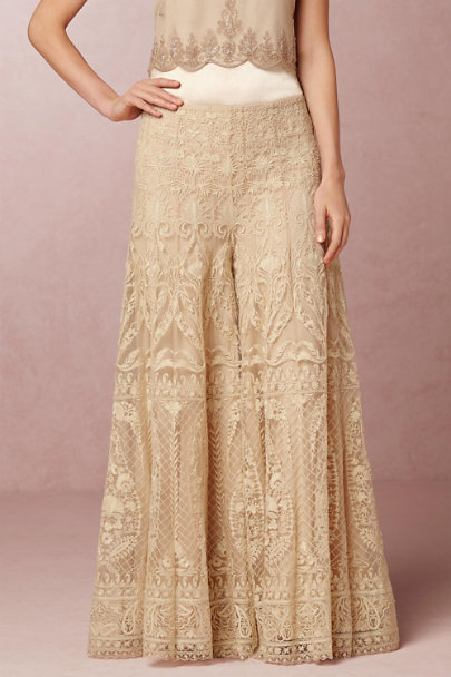 Kavita Bhartia Ivory/Blush Carter Palazzo Pants | BHLDN