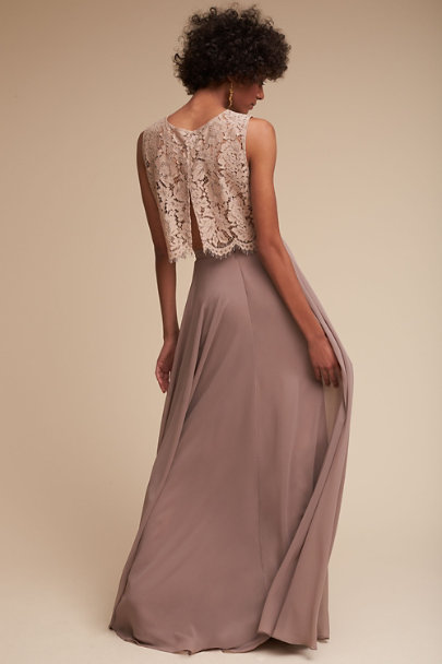 Jenny Yoo Mink Grey Cleo Top | BHLDN