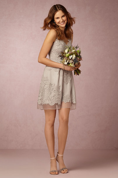 Yoana Baraschi Whisper Grey Celestina Dress | BHLDN