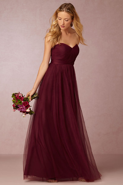 Jenny Yoo Black Cherry Annabelle Dress | BHLDN