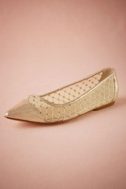 Gold Effervescent Flats | BHLDN