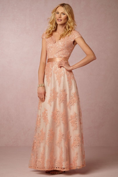 Aidan Mattox Peach Alina Dress | BHLDN