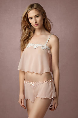 Diaphanous Cropped Cami & Short Set