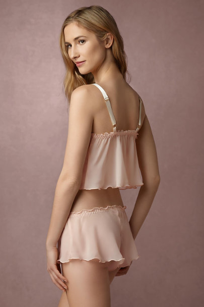 Hanky Panky Cream Diaphanous Cropped Cami & Short Set | BHLDN