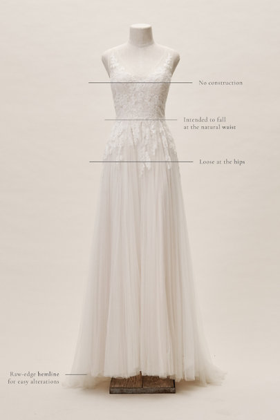 Watters Porcelain Reagan Gown | BHLDN