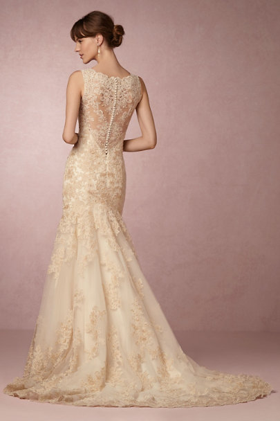 Eddy K Rose Gold Perla Gown | BHLDN