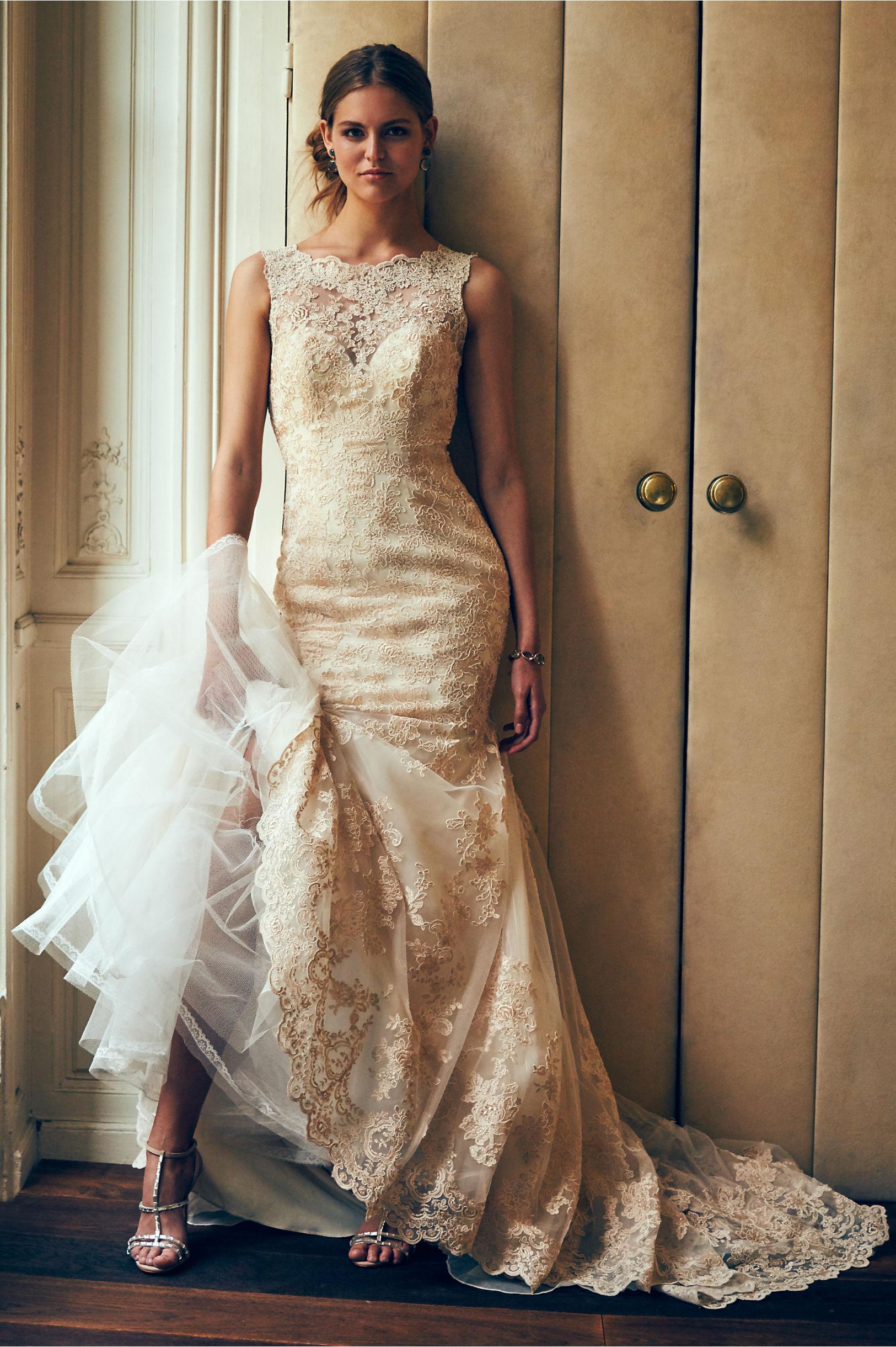 perla gown gold dress for wedding Rose Gold Perla Gown BHLDN