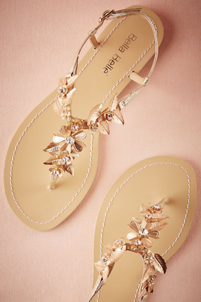 Bella Belle Gold Chrysanthe Sandals | BHLDN