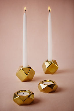 Goldstone Candle Holders (2)