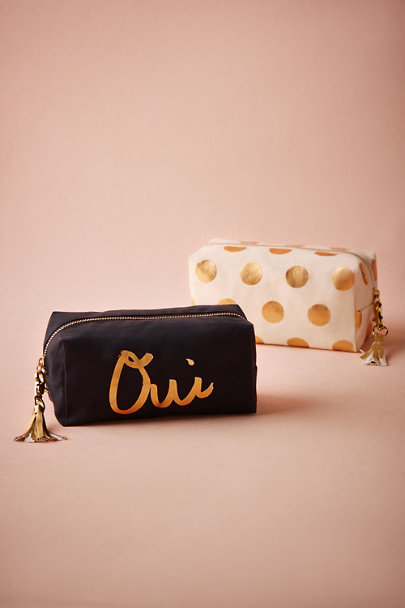 Gold Dot Francoise Cosmetic Bag | BHLDN