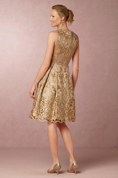 Eliza J Blush/Gold Rosa Dress | BHLDN