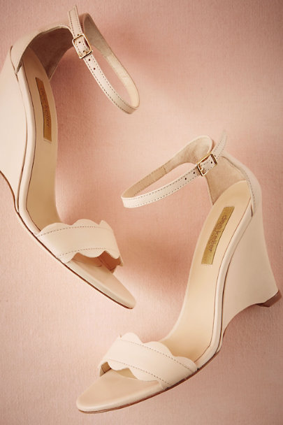 Dee Keller Nude Nimbus Wedges | BHLDN