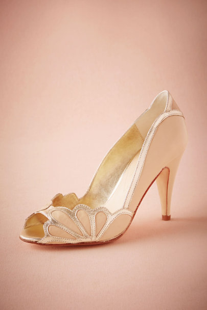 Rachel Simpson Blush Isabella Scalloped Heel | BHLDN