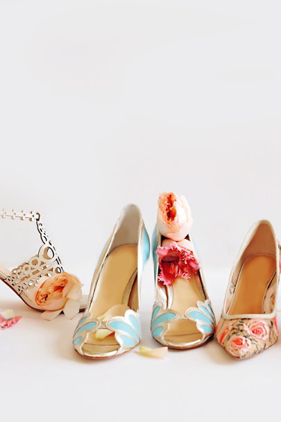 Rachel Simpson Laguna Blue Isabella Scalloped Heel | BHLDN