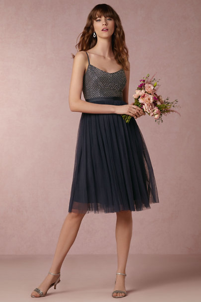 Needle & Thread Steel Blue Coppelia Dress | BHLDN