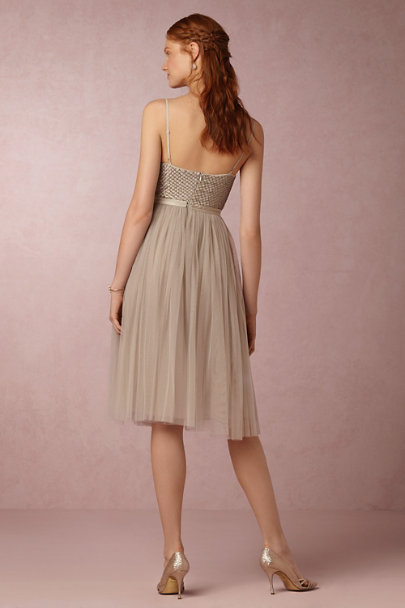 Needle & Thread Whisper Grey Coppelia Dress | BHLDN