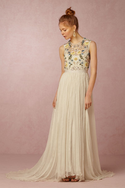 Needle & Thread Ivory Paulette Dress | BHLDN