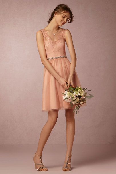 Hitherto Cameo Pink Lina Dress | BHLDN