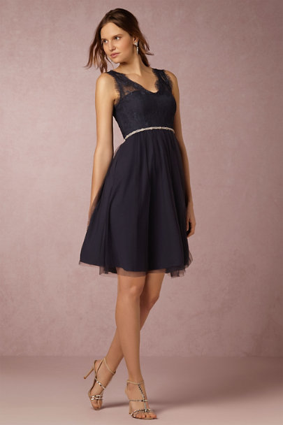 Hitherto Navy Lina Dress | BHLDN