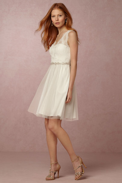 Hitherto Ivory Lina Dress | BHLDN