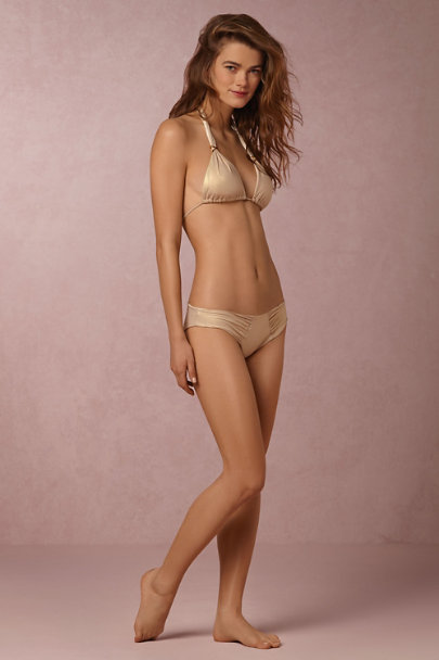 Malai Swimwear Gold Golddust Bikini Top | BHLDN
