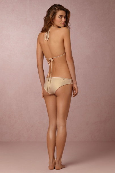 Malai Swimwear Gold Golddust Bikini Bottom | BHLDN