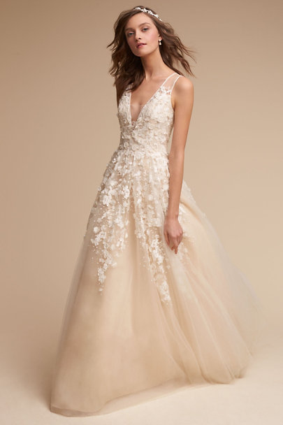 Simple Wedding Dress Boutique : Creme ariane gown in bride bhldn