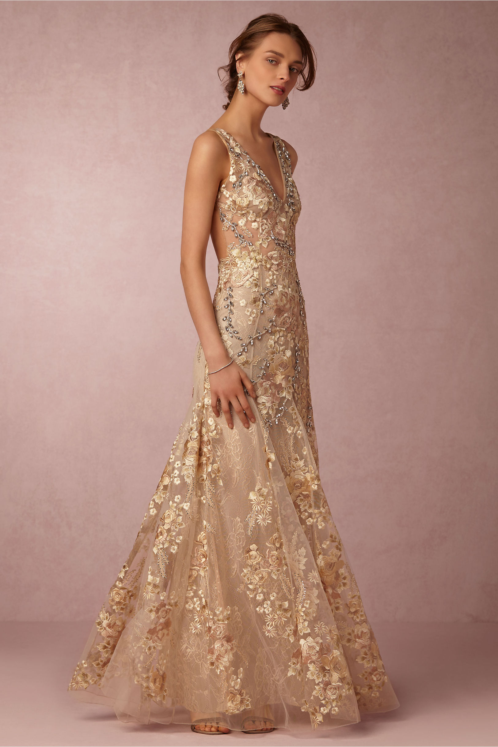 gabriela gown formal dresses for weddings Patricia Bonaldi Gold Gabriela Gown BHLDN