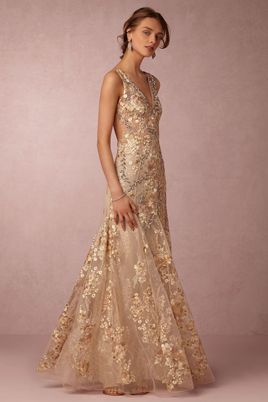 Wedding Gold Gown gabriela gown in sale wedding dresses bhldn patricia bonaldi gold bhldn