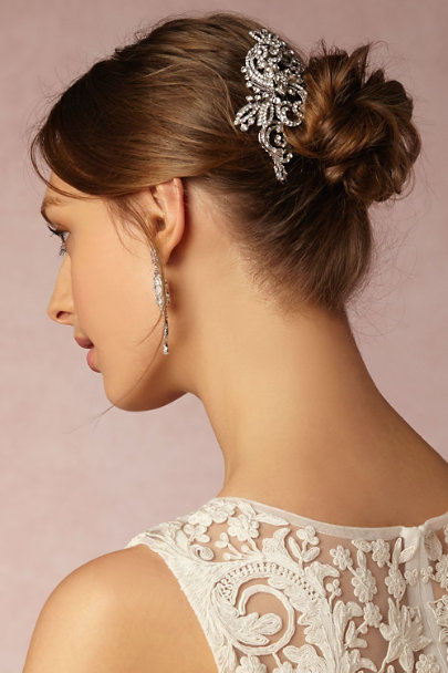 Silver Revolved Crystal Clip | BHLDN