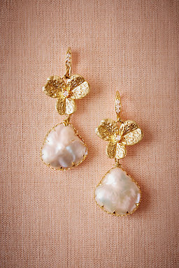 Trefoil Pearl Drop Earrings