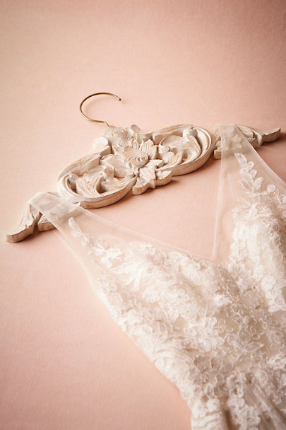 White Balinese Carved Wood Hanger | BHLDN