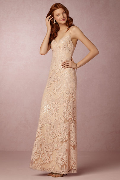 Jenny Yoo Blush Audra Maxi Dress | BHLDN