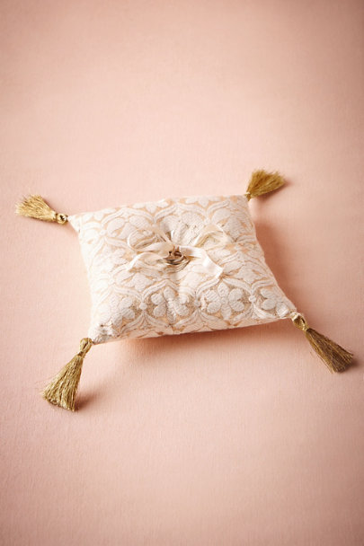 Gold Brocade Ring Pillow | BHLDN