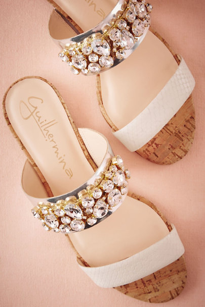 Guilhermina Gold/Silver Ioanna Slides | BHLDN