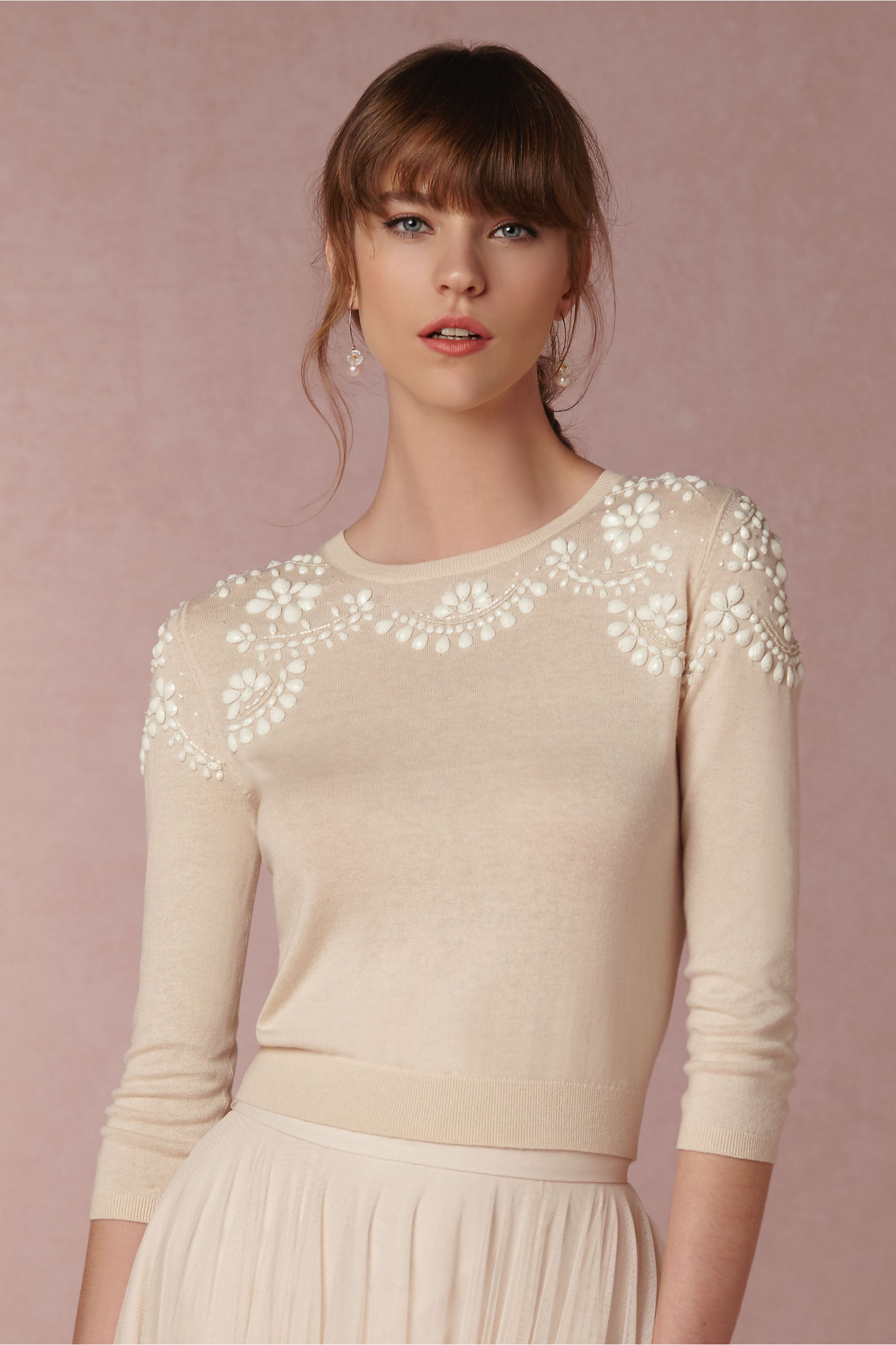 Bhldn wrap sweater sweater vest for Sweater over wedding dress