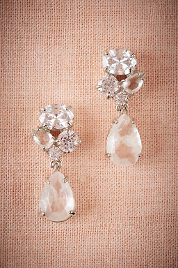 Crystal Clear Drop Earrings