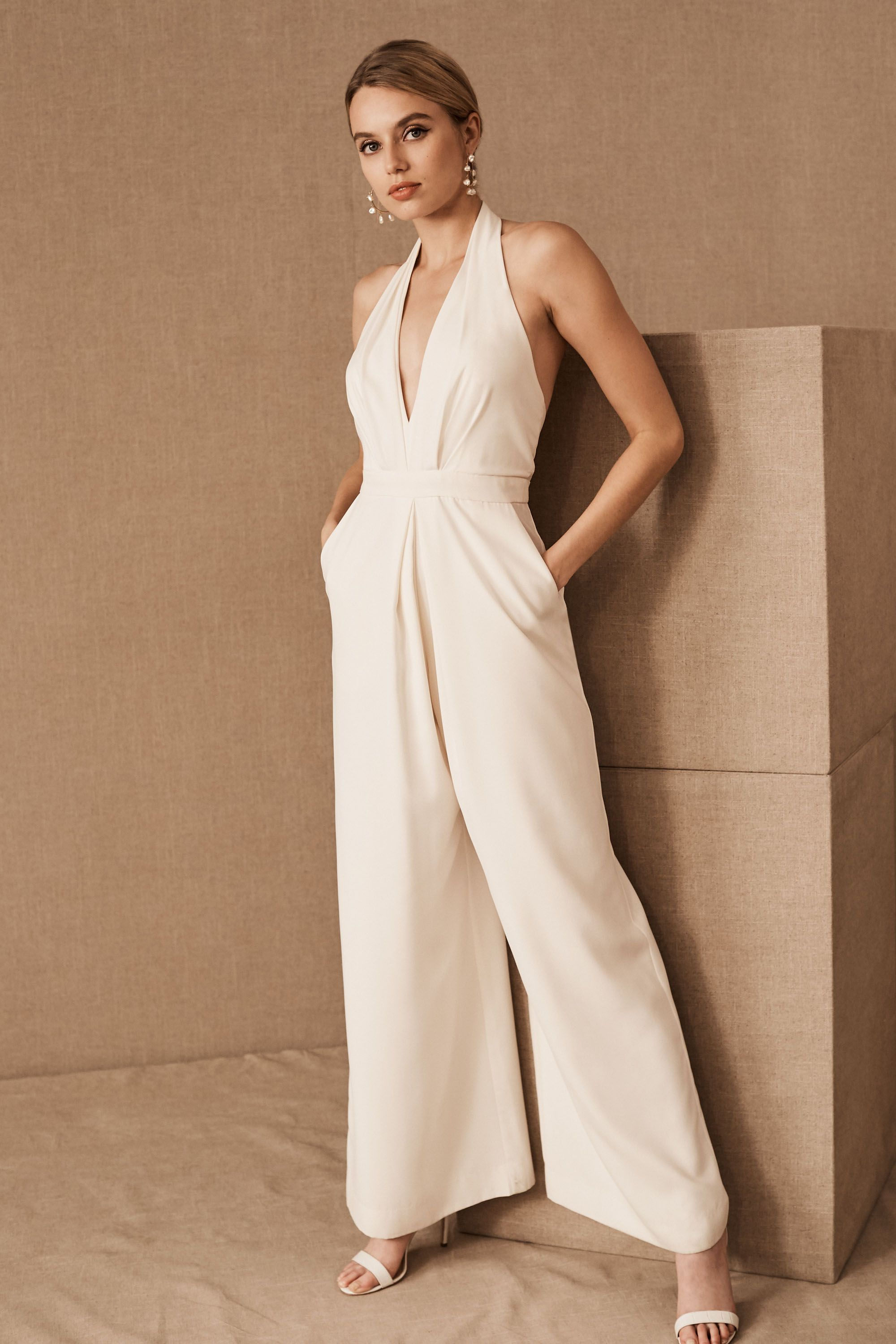Wedding Bridal Jumpsuits mara jumpsuit in bride bhldn