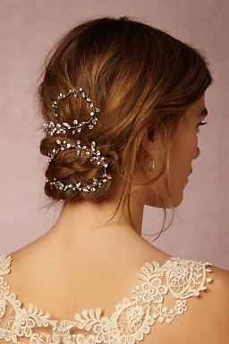 Crystallized Vine Hairpiece