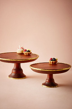Gilded Wood Cake Stand