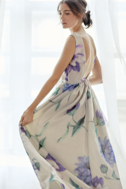Cynthia Rowley Ivory Floral Pia Maxi Dress | BHLDN