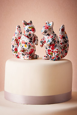 Printed Squirrel Cake Topper (2)