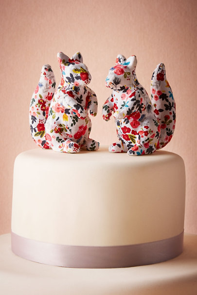 Multi Printed Squirrel Cake Topper (2) | BHLDN