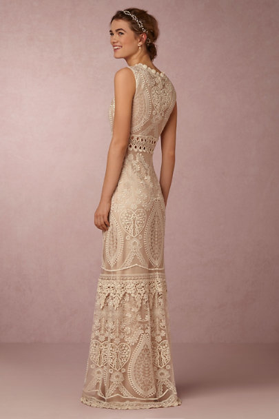 Twigs & Honey Gold Pearldrop Halo | BHLDN