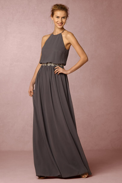 Donna Morgan Charcoal Alana Dress | BHLDN