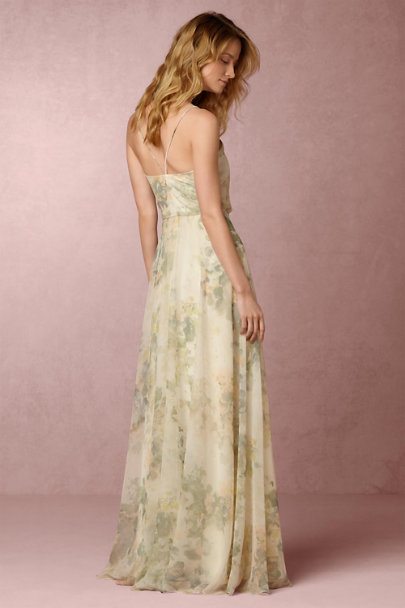 Jenny Yoo Ivory Sage Multi Inesse Dress | BHLDN